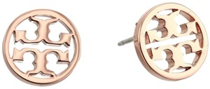Tory Burch New Tory Burch Small ROSE GOLD Circle Logo Studs