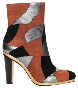 Rodarte Other Stories Patchwork Red, Black, Silver, Gold Boots