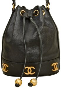 Chanel Caviar Leather Bucket Shoulder Bag