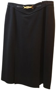 Céline 1970 Vintage Pleated Skirt Black