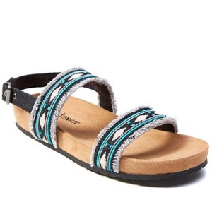 Minnetonka Black/Teal Sandals