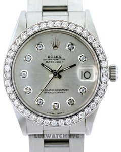 Rolex 2CT 31MM MIDSIZE DATEJUST SS W/ BOX & APPRAISAL