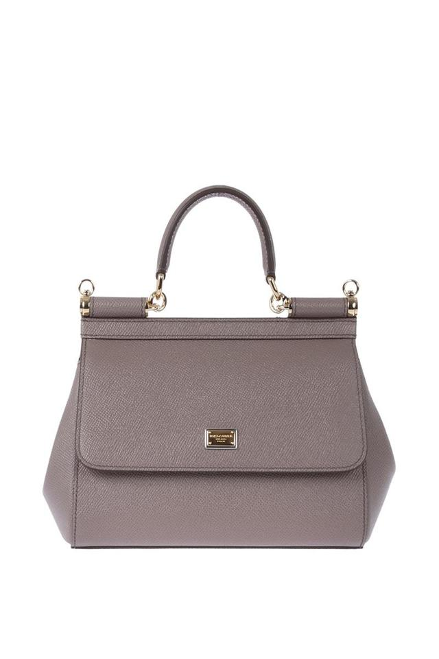 eefcc0aa39f0 Dolce Gabbana Dolce   Gabbana Small Miss Sicily Taupe Leather ...