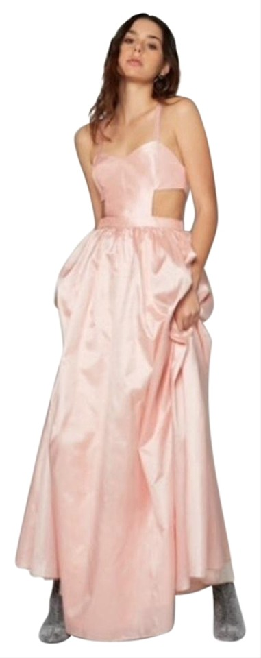 Fame And Partners Pink Pastel Taffeta Gown Long Formal Dress Size 2