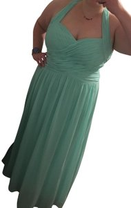 Dessy Full Length Chiffon Sweetheart Neckline Open Back Dress
