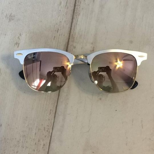 1e28af64f3 Ray-Ban Silver with Copper Gradient Flash Clubmaster Aluminum Lenses ...