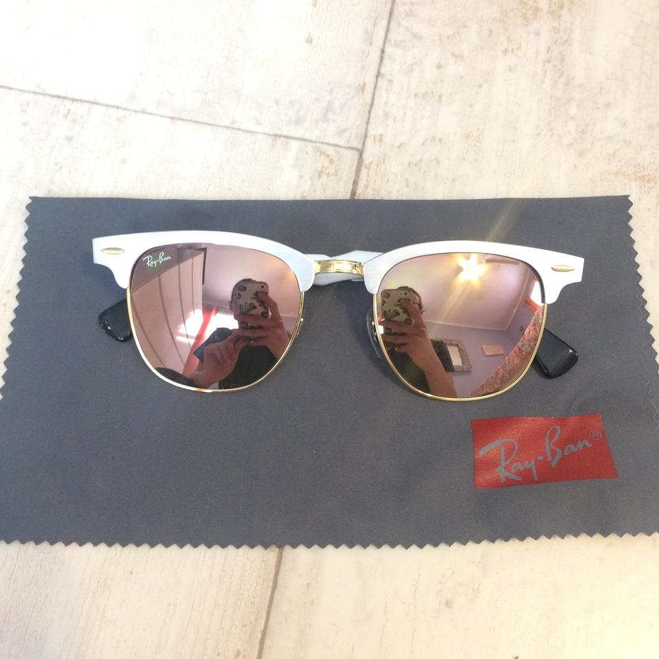 ad6746d5ccf Ray-Ban Silver with Copper Gradient Flash Clubmaster Aluminum Lenses ...