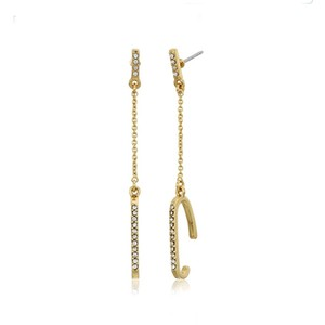 Rebecca Minkoff Gold & Pave Crystal Dangling Earrings