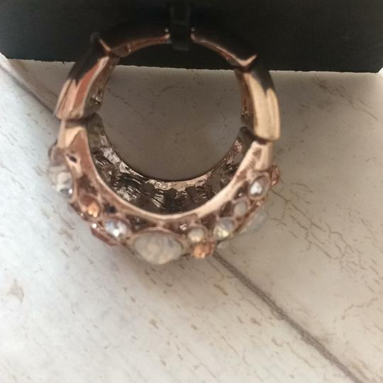 Guess Rose Gold Domed Multi-Stone Adjustable Ring