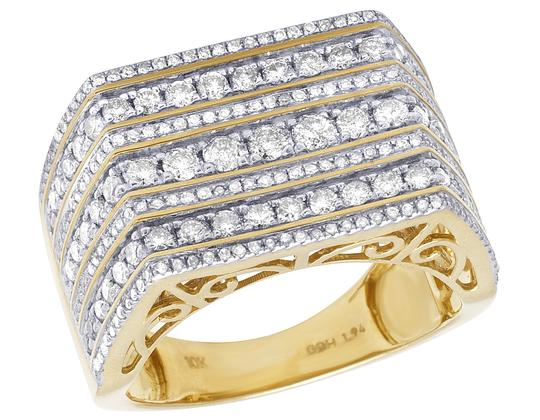 Preload https://item1.tradesy.com/images/jewelry-unlimited-10k-yellow-gold-mens-7-row-diamond-engagement-wedding-band-2ct-ring-22686205-0-0.jpg?width=440&height=440