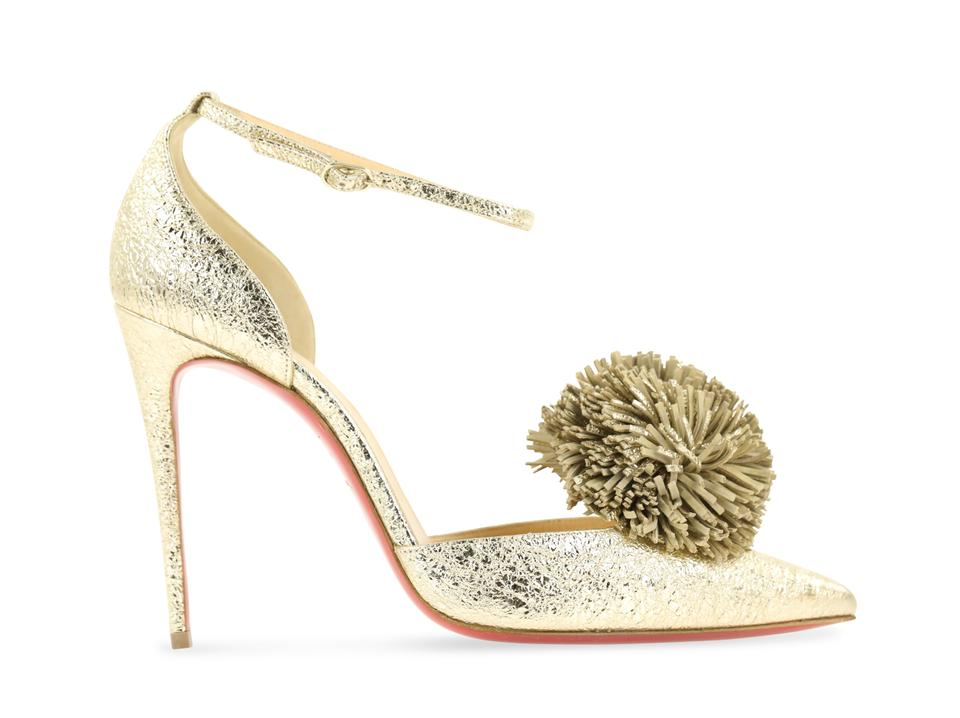 outlet store cd13e 4f501 Christian Louboutin Gold Tsarou 100 Specchio Vintage Pumps Size EU 38  (Approx. US 8) Regular (M, B) 37% off retail
