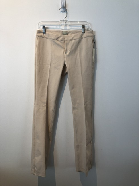 ecru Boot Cut Pants Bone