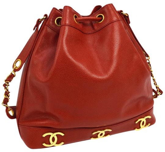 Preload https://item1.tradesy.com/images/chanel-bucket-vintage-tote-red-leather-cross-body-bag-22686335-0-5.jpg?width=440&height=440