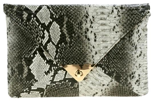 Preload https://item1.tradesy.com/images/black-synthetic-leather-snake-skin-clutch-purse-bag-wallet-22686350-0-1.jpg?width=440&height=440