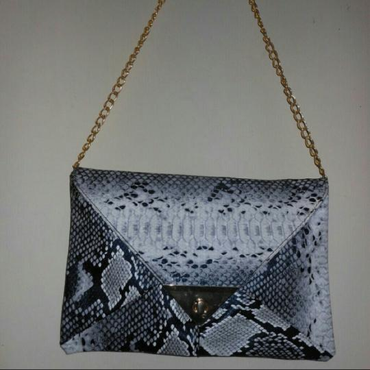 Unbranded Synthetic Leather Snake Skin Clutch Purse Bag