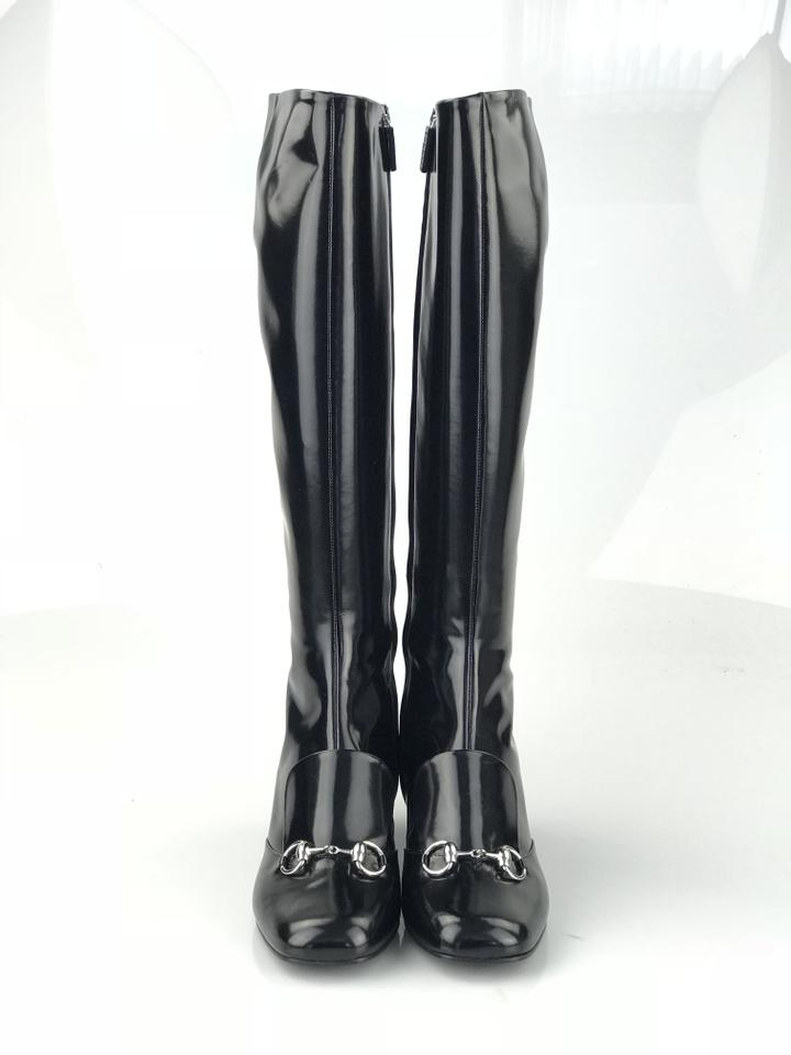 a3a97160848200 Gucci Black Lillian Shiny Leather Boots Booties Size EU 39 (Approx. US 9)  Regular (M