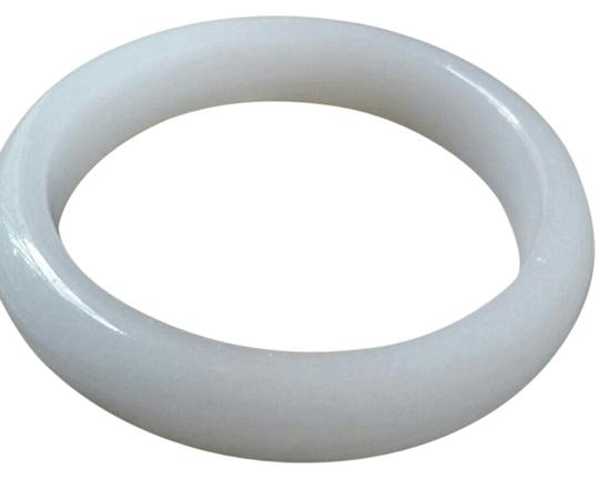 Lucky Jade Natural Chinese White Lucky Jade Bangle 60mm