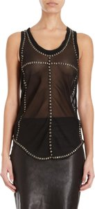 Isabel Marant Studded Chic Silk Spring Summer Top Gray