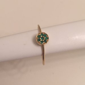 Jennifer Meyer Jewelry Emerald and Gold Jennifer Meyer ring