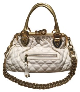 Marc Jacobs Satchel in White with gold trim