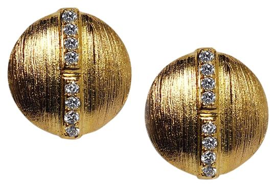 Preload https://img-static.tradesy.com/item/22686563/ny-collection-yellow-womens-white-cz-round-stud-push-back-gold-sterling-silver-earrings-0-1-540-540.jpg