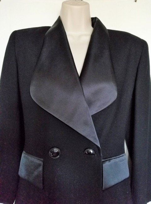 Oleg Cassini Oleg Cassini Black Formal Tux Jacket
