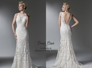 Maggie Sottero Ivory Lace Winifred Formal Wedding Dress Size 2 (XS)