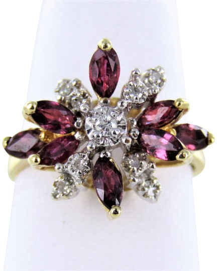 Preload https://img-static.tradesy.com/item/22686824/yellow-woman-s-14kt-gold-diamond-ruby-size-55-ring-0-1-540-540.jpg