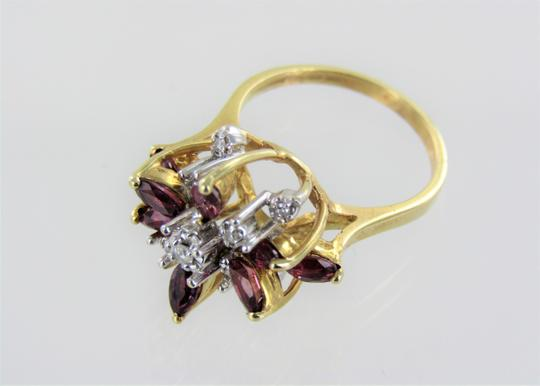 Other Woman's 14kt Yellow Gold Diamond/ Ruby Ring size-5.5