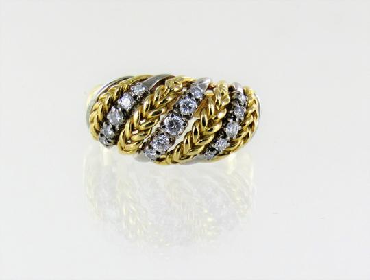 Other Woman's 18kt 2-tone Diamond Cluster Ring SIze-7
