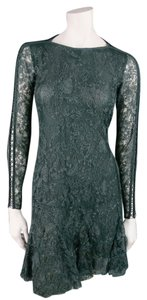 Isabel Marant Lace Longsleeve Ruffle Floral Cocktail Dress