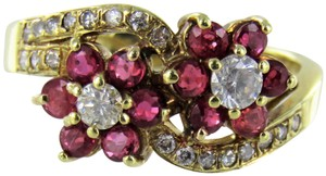 Other Woman's 14kt Yellow Gold Diamond Cluster Ring Size-7