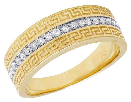 Preload https://img-static.tradesy.com/item/22686882/jewelry-unlimited-10k-yellow-gold-mens-1-row-diamond-fret-greek-key-design-band-33-ring-0-1-540-540.jpg