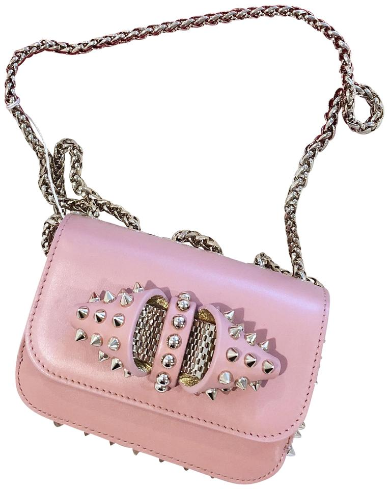 e3ff5012619 Christian Louboutin Sweet Charity Mini Spiked Pink (Ronsard/Gols) Leather  Shoulder Bag 52% off retail