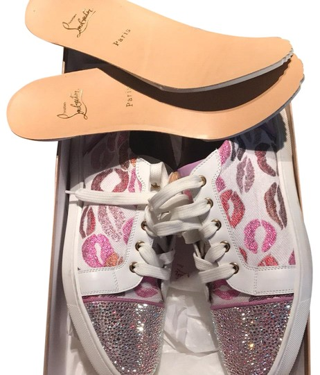 Preload https://item3.tradesy.com/images/christian-louboutin-pink-and-white-sneaker-sneakers-size-us-95-regular-m-b-22686987-0-1.jpg?width=440&height=440