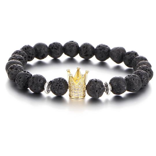 Preload https://item4.tradesy.com/images/gold-and-black-8mm-casual-volcanic-stone-crystal-crown-bracelet-22687098-0-0.jpg?width=440&height=440