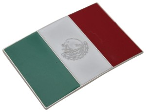 Other New Men Women Silver Metal Western Fashion Belt Buckle Mexico Flag Mex