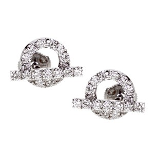 Hermès Hermes Diamond Stud White Gold Earrings