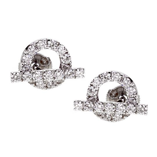 Preload https://img-static.tradesy.com/item/22687165/hermes-white-diamond-stud-gold-earrings-0-0-540-540.jpg
