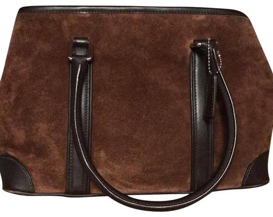 Preload https://img-static.tradesy.com/item/22687228/coach-stylish-brown-suede-leather-satchel-0-1-540-540.jpg