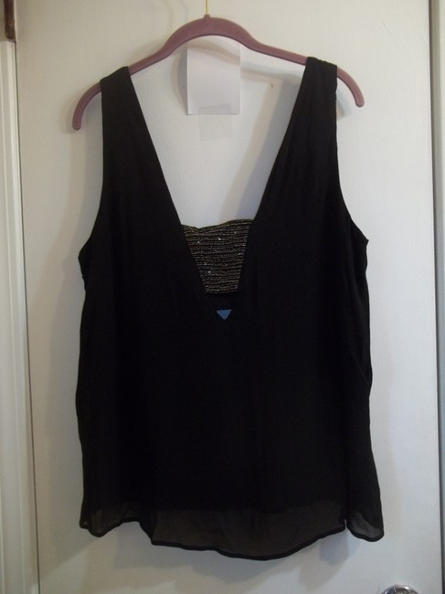 new friends colony Sleeveless Classic Beaded Sparkle Embellished Top black