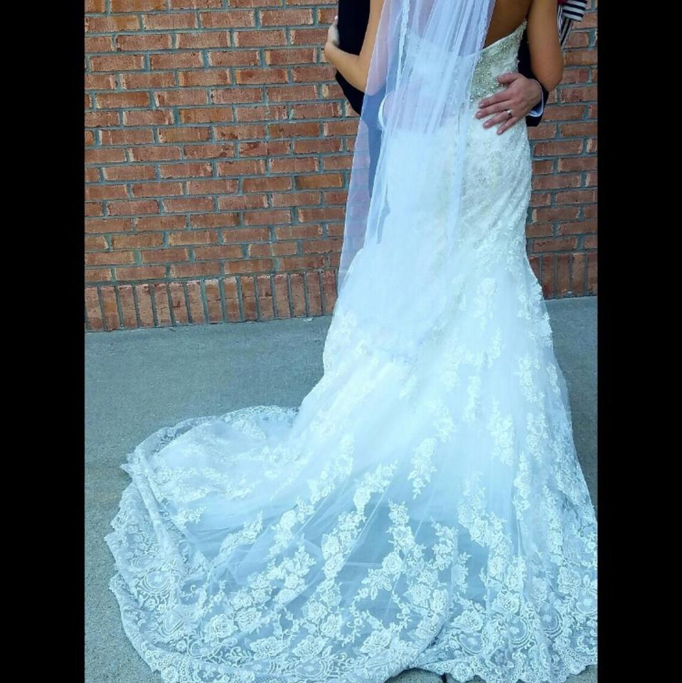 Allure Bridals Ivory/Gold/Silver Lace Style 9051 Vintage Wedding ...