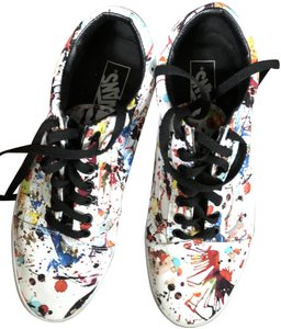 Vans Casual White with manufacturer's paint splatter pattern Athletic