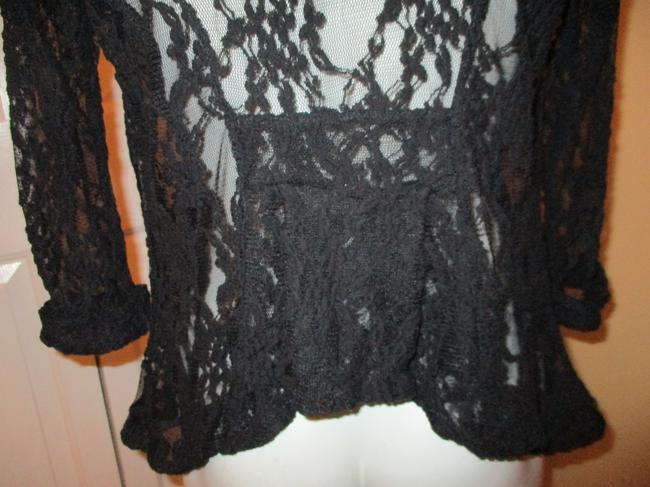 Miss Chievous Lace Mesh 3/4 Sleeve Cardigan