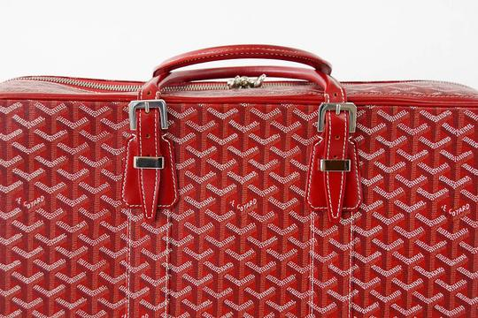 Goyard Goyard Suitcase Soft Red Signature Monogram Majordome 50 Palladium Fit