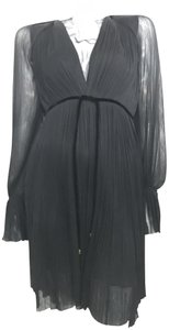 Maria Lucia Hohan Silk Hi Low Sheer Dress