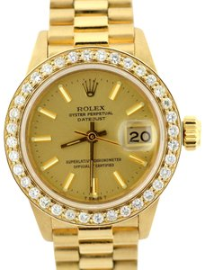 Rolex 1.5CT 26MM Presidential Datejust 18k Gold Diamond Watch