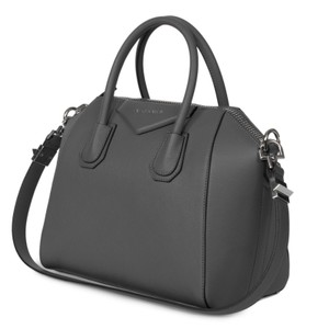 Givenchy Satchel Crossbody Matt Leather Sugar Leather Tote in gray