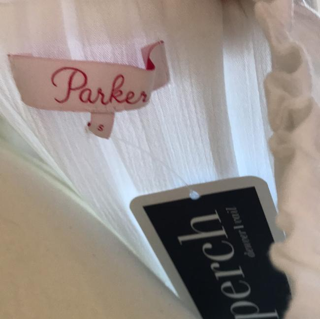 Parker short dress NWT White Tammy & Blue Embroidery on Tradesy