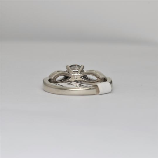 White Gold Twisted Solitaire Diamond 14k Engagement Ring
